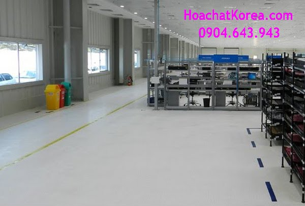 Vinyl antistatic floor in assembly factory of LG Vietnam