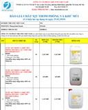 Báo giá hóa chất tẩy rửa Malaysia các loại